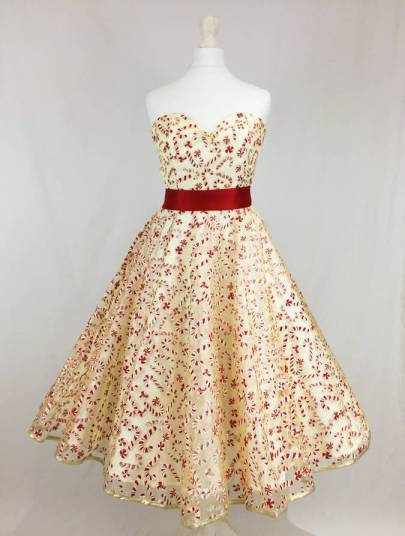 She and Hem   Double Thumbs Dresses #63   Candy Cane Glitter Organza Dress £180 by Oh My Honey at Not On The Highstreet