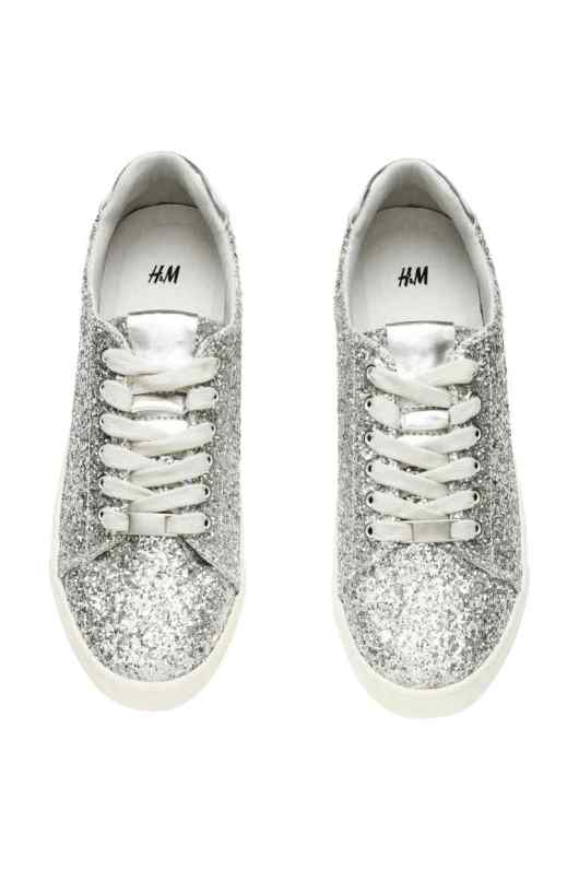 Accessories to Murder #20 | She and Hem | H&M Glittery Trainers