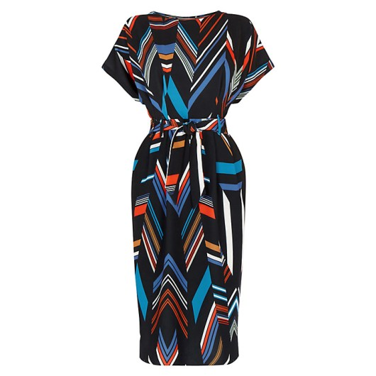 Chevron Stripe Belted Dress £65 from Warehouse
