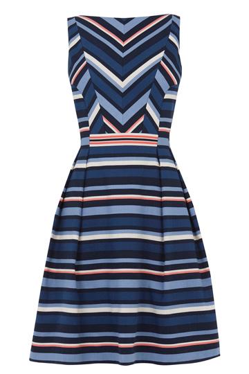 Chevron Stripe Dress £60 from Oasis