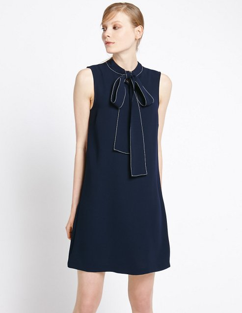 Bow Front Shift Dress £39.50 from M&S