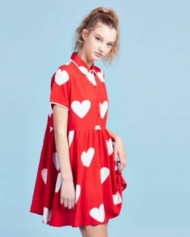 Red Heart Dress £65 by Lazy Oaf