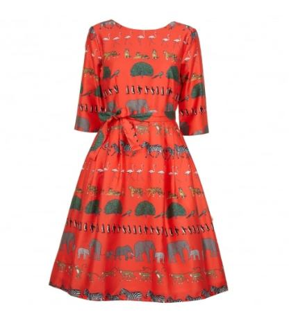 Beatrice Sleeves Red Walking Zoo £148 from Bryony & Co