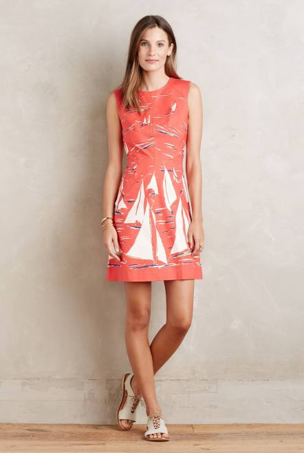 Boat Print Poplin Dress £108 from Anthropologie