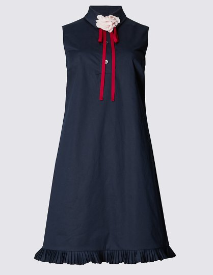 Pleated Hem Shift Dress £39.50 from M&S