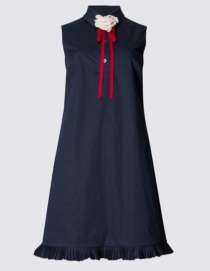 Pleated Hem Shift Dress £39.50 from M&S