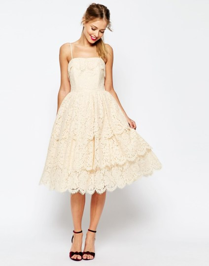 Tiered Lace Midi Prom Dress £120.00 from ASOS Salon