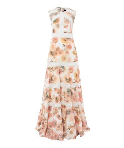 Pink Peony Printed Lace Insert Gown £350 from Needle & Thread at Libery