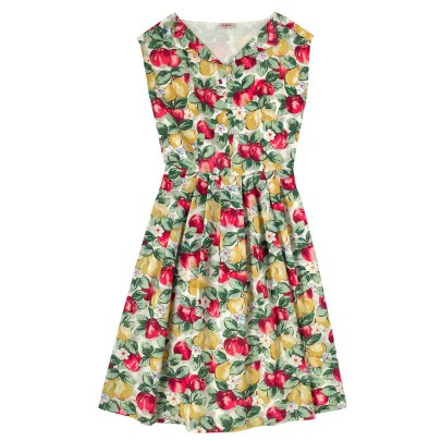 Double Thumbs Dresses #78 | Apples and Pears Cotton Pleat Front Dress £75 from Cath Kidston