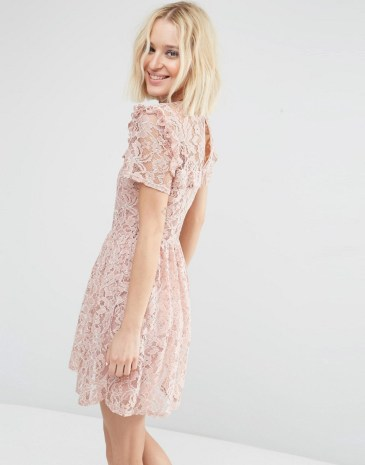 Double Thumbs Dresses #79 | Lace Ruffle Yoke Skater Dress £38.00 from ASOS
