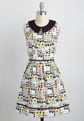 She and Hem | All Eyes on Unique Dress in Sushi $89.99 from Modcloth
