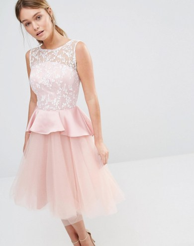 She and Hem | London Tulle Midi Dress with Frill Waist