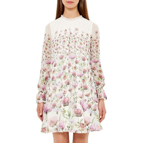 She and Hem | High Neck Frill Dress £159 from Ted Baker at John Lewis
