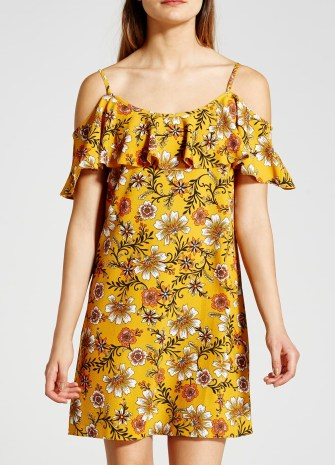 She and Hem | Cold Shoulder Floral Print Dress £16 from Matalan