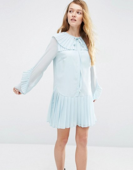She and Hem | Pleated Collar Dress £38.00 from ASOS