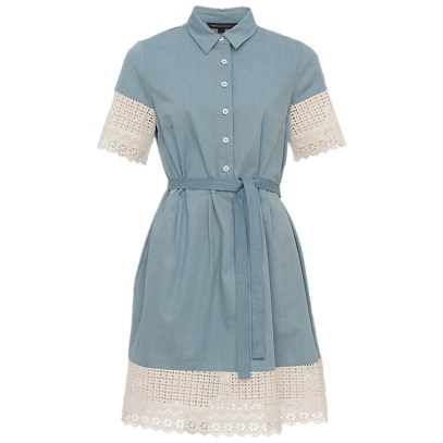 Double Thumbs Dresses #86 | Holiday Lace Short Sleeve Dress £47.50 (Reduced from £95) by French Connection at John Lewis