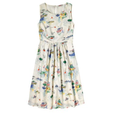 Double Thumbs Dresses #86 | Sea View Dress £40 (Reduced from £60) from Cath Kidston