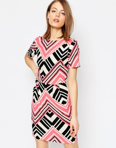 Double Thumbs Dresses#86 | Graphic Print Mini Wiggle Dress £27 (Reduced from £45) from ASOS