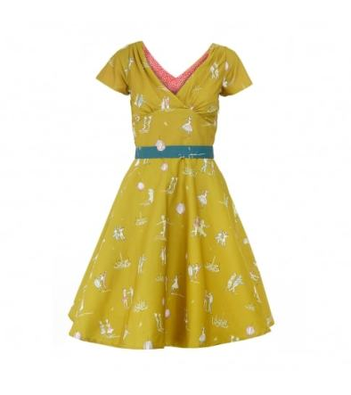 Irene Dancers Dress in Mustard £130 from Palava