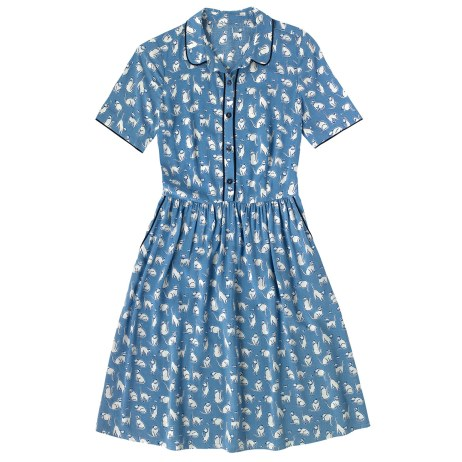 Mono Cats Viscose Piped Shirt £75 from Cath Kidston