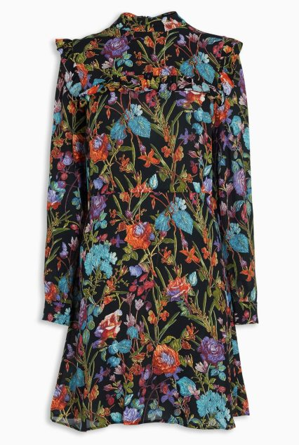 Floral Print Ruffle Trim Dress £62 from Next