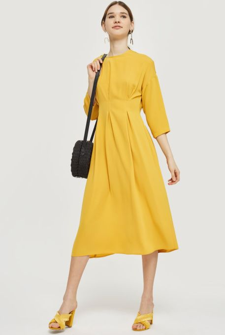 Tuck Seem Midi Dress £46 from Topshop | She and Hem | Double Thumbs Dresses #91