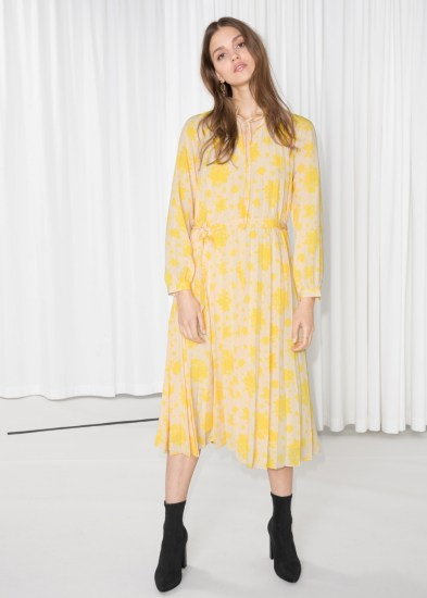 Floral Pleated Midi Dress £79 from & Other Stories | She and Hem | Double Thumbs Dresses #92
