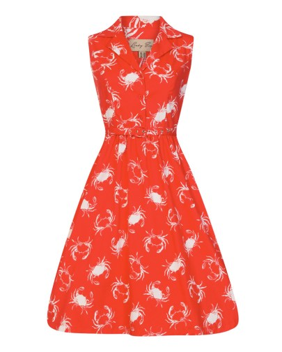 Red Shellfish Print Rockabilly Shirt Dress £38 from Lindy Bop | She and Hem | Double Thumbs Dresses #92