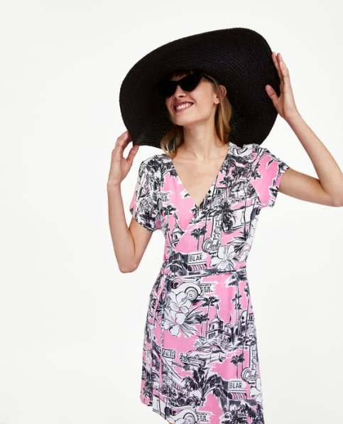Printed Dress £25.99 from Zara | She and Hem| Double Thumbs Dresses #91