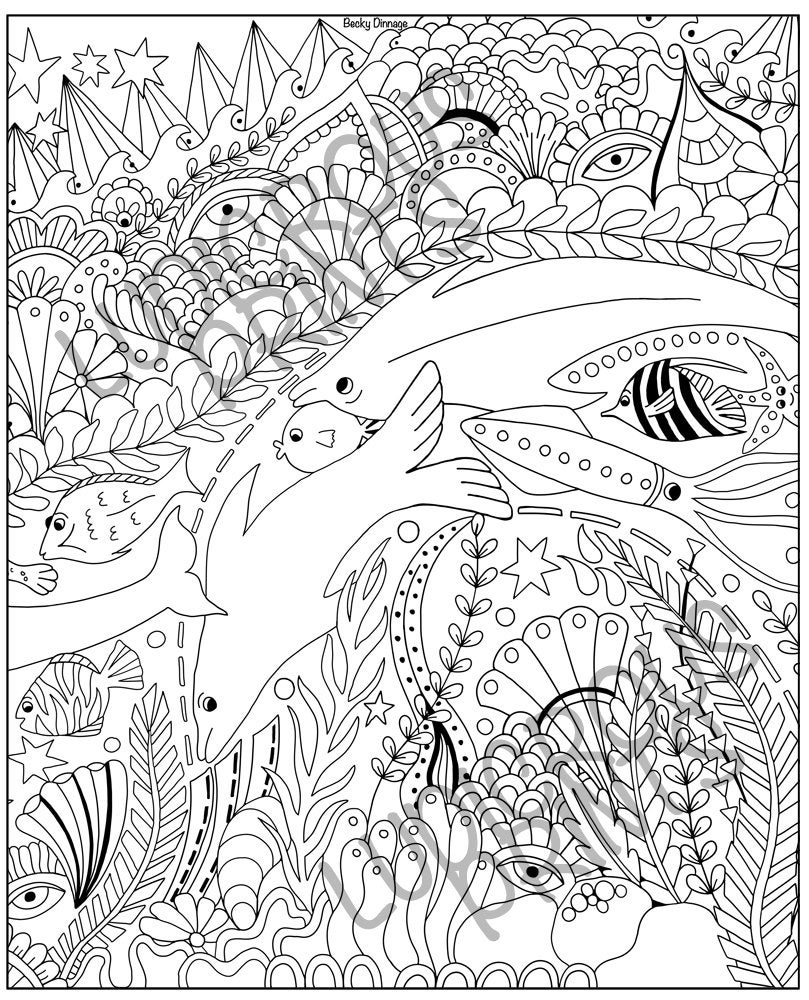 Coloring Pages For Adults Sea