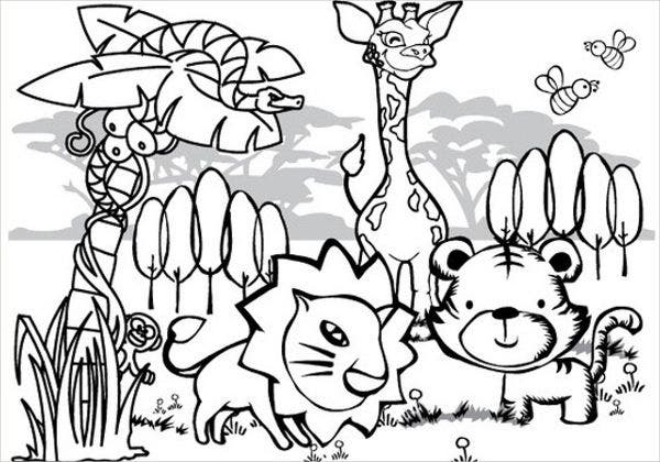 Jungle Animals Coloring Pages Pdf - Sheapeterson ...