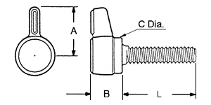 L Thumbscrew Dimensions
