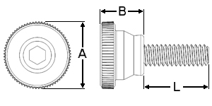 Extended Knurled Key-Drive Dimensions