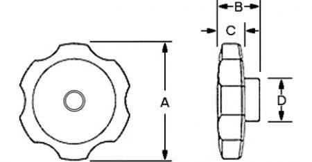 Rosette Nut Dimensions