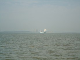 Sizewell B's Dome Behind The Fishing Boat
