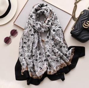 Beautiful Imported Ladies Silk Scarf in BD - Valentina Fashion House