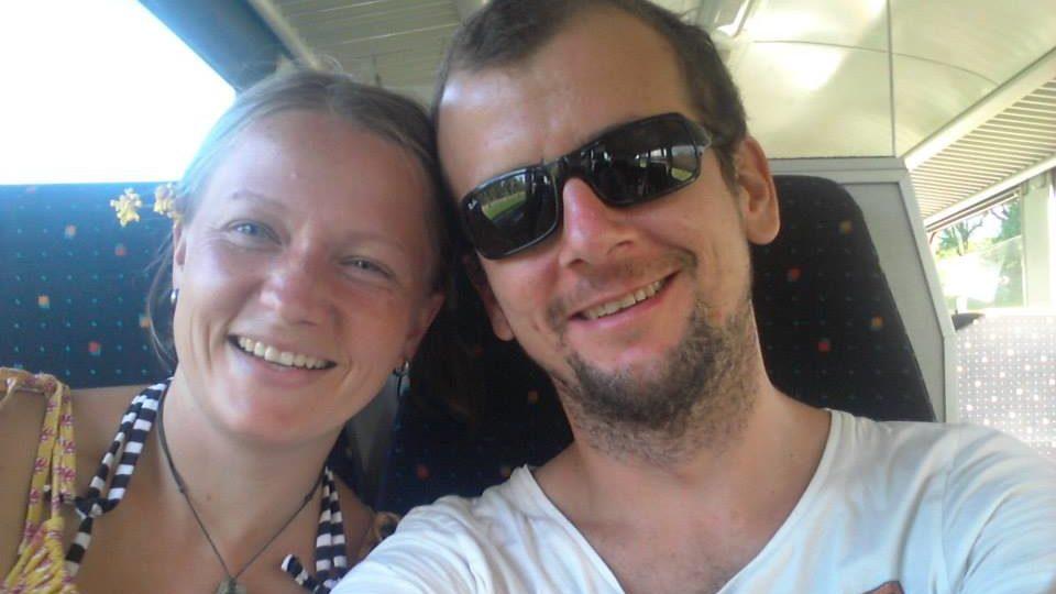 Stanimir Bakshev auf einem Facebook-Bild mit seiner Frau Desislava.