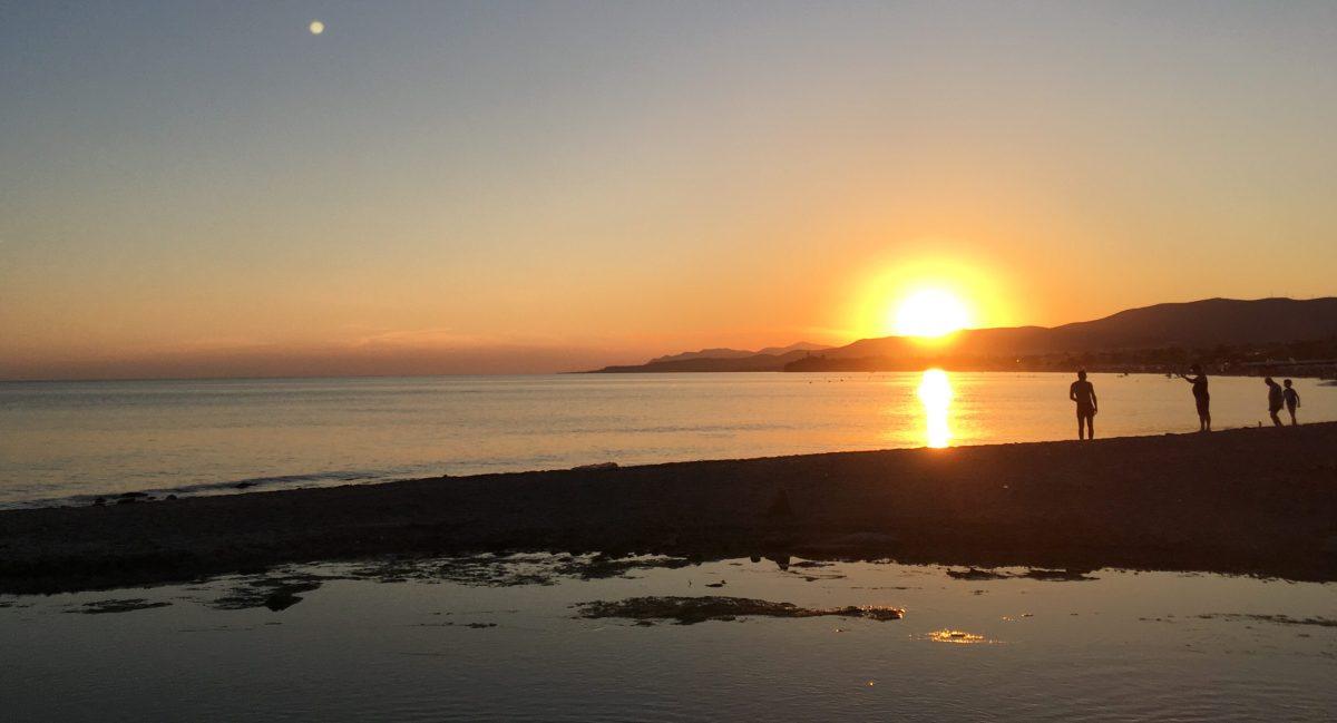 Etwas Kitsch muss sein: Sonnenuntergang über dem ägäischen Meer, bei Alexandroupoli. (Bild: Andrea Freiermuth)