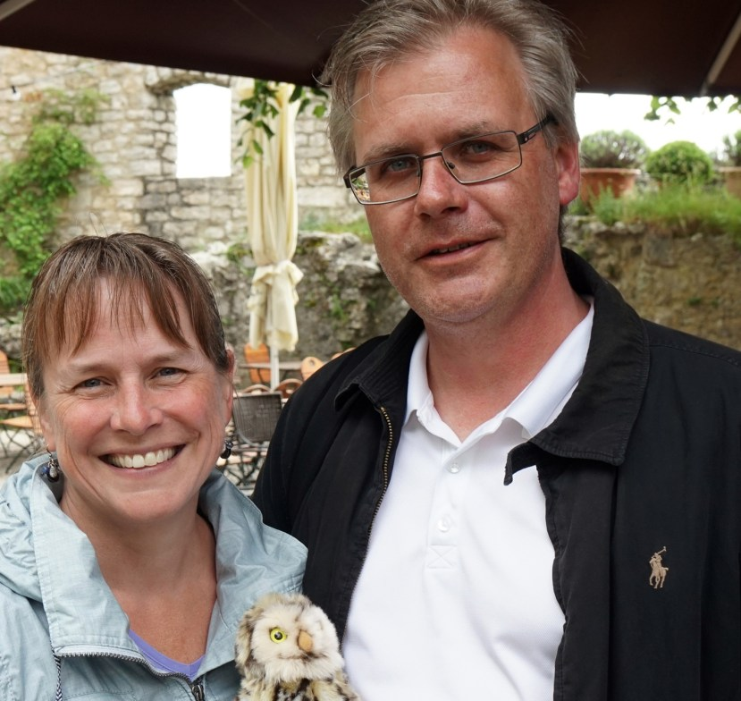 Beth and Martin with animal