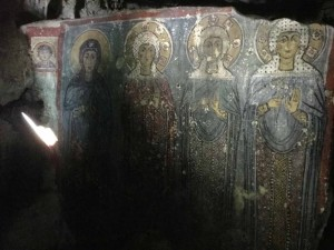 Fresco in the Church Cave of Saint Agia Sophia