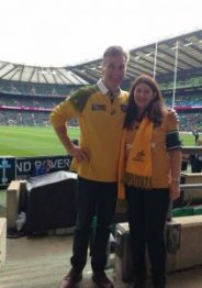 Paul and Michelle in the green and gold