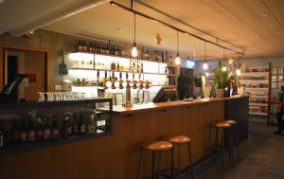 A bar in one of the hostels