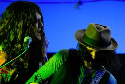 Kurt Fletcher & Troy Redfern jamming together at Hereford Rocks. Photography by Jonathon Paul