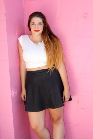 Crop: Painted Threads sold at Nordstrom BP // Skirt: Lily White sold at Nordstrom BP