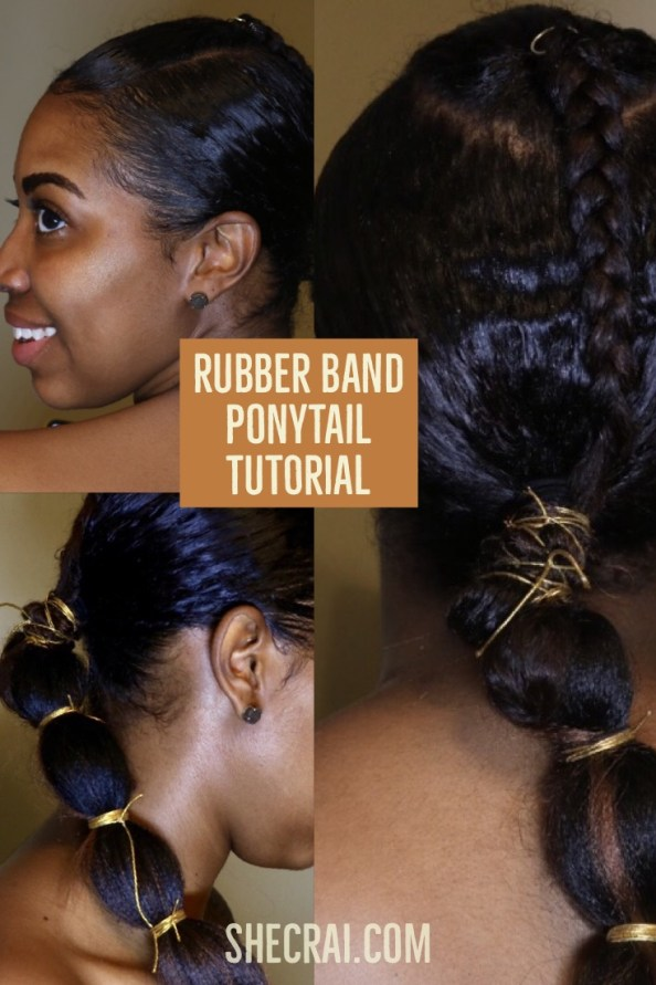 Rubber Band Ponytail Tutorial 20 Minute Style Shecrai Com