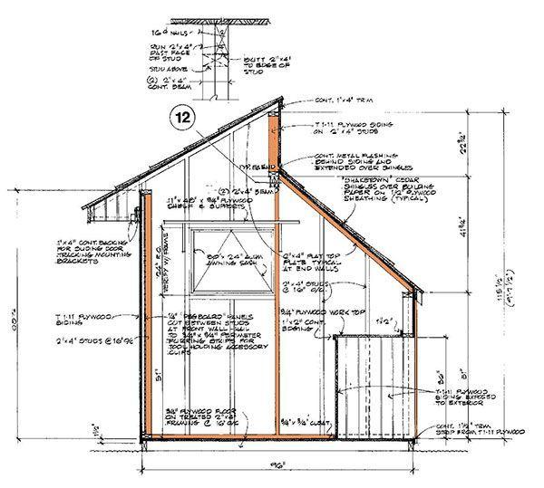 8×12 Clerestory Shed Plans & Blueprints For Storage Shed