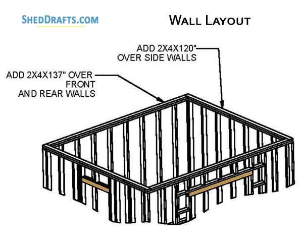 10×12 Garden Storage Shed Plans Blueprints To Design
