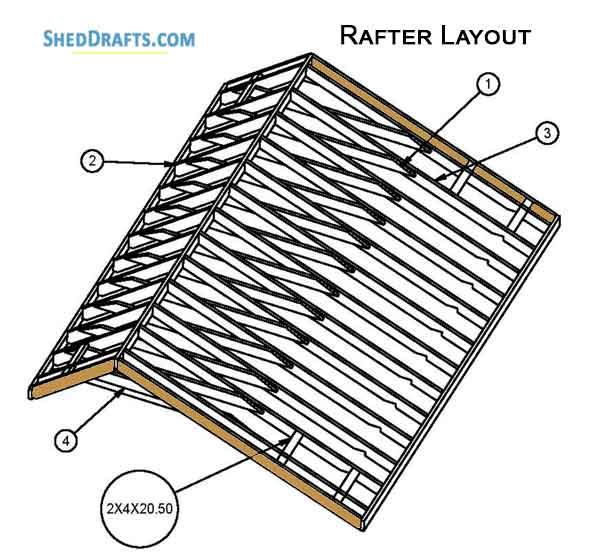 10×16 DIY Saltbox Storage Shed Plans Blueprints To Set Up