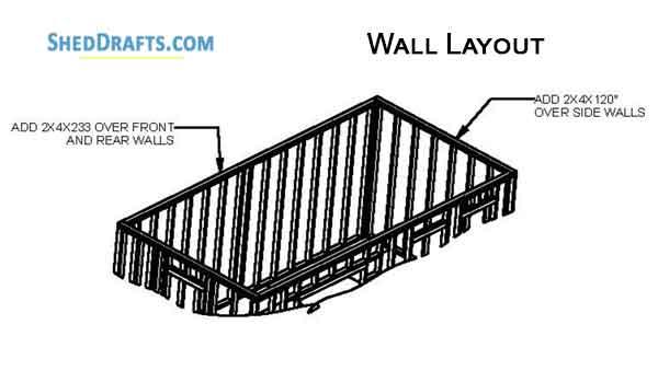 10×20 Gable Garden Storage Shed Plans Blueprints To Set Up