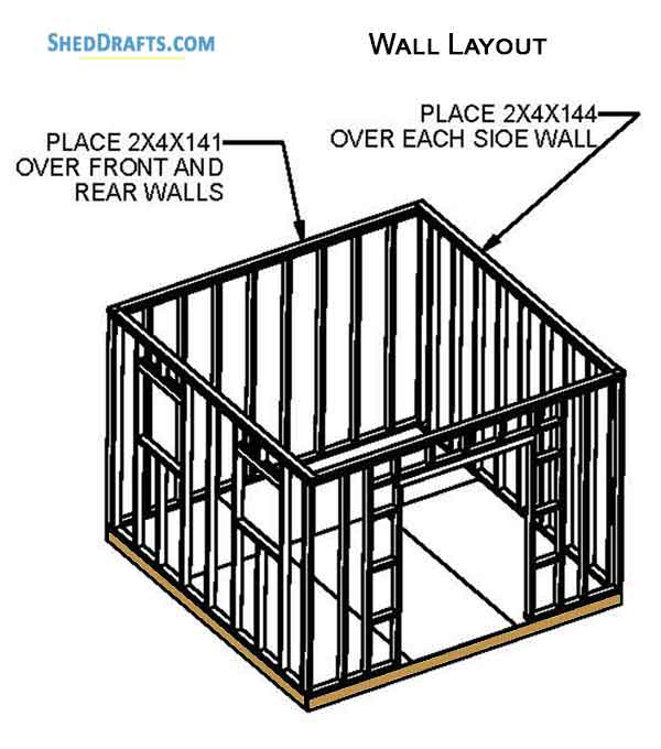 12×12 Gable Garden Storage Shed Plans Blueprints To Craft